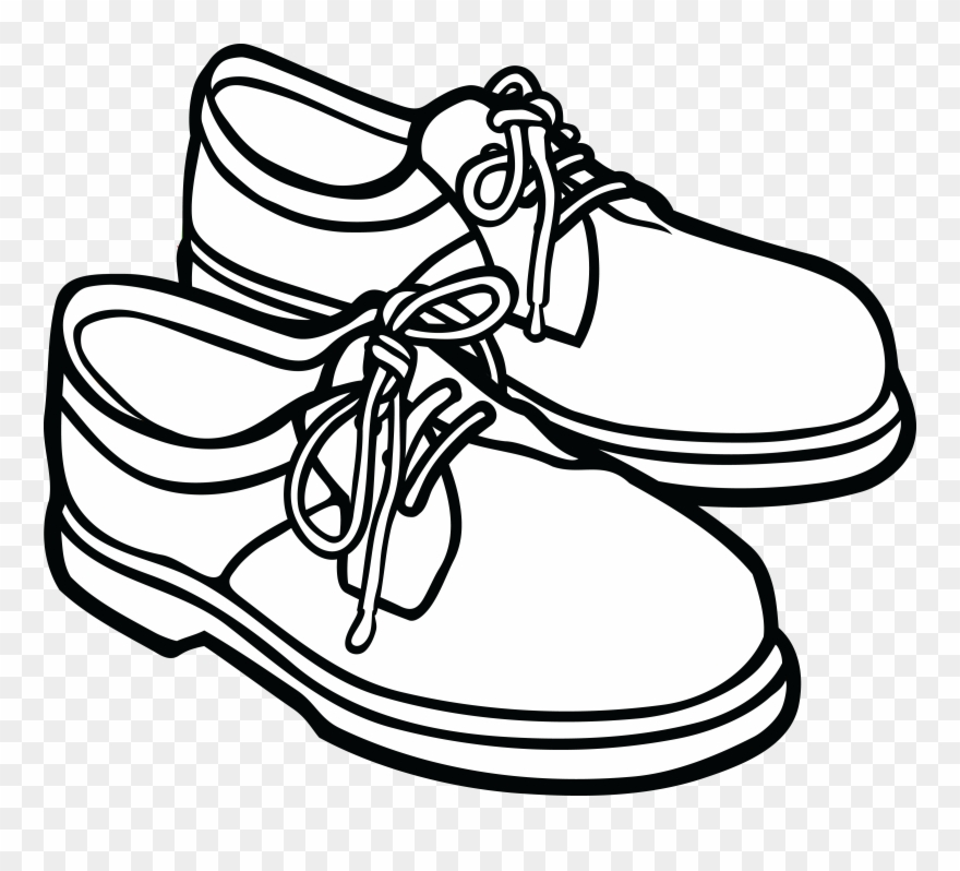 Feet with shoes clipart black and white clip transparent stock Free Clipart Of A Pair Of Mens Shoes - Clip Art Pictures Black And ... clip transparent stock