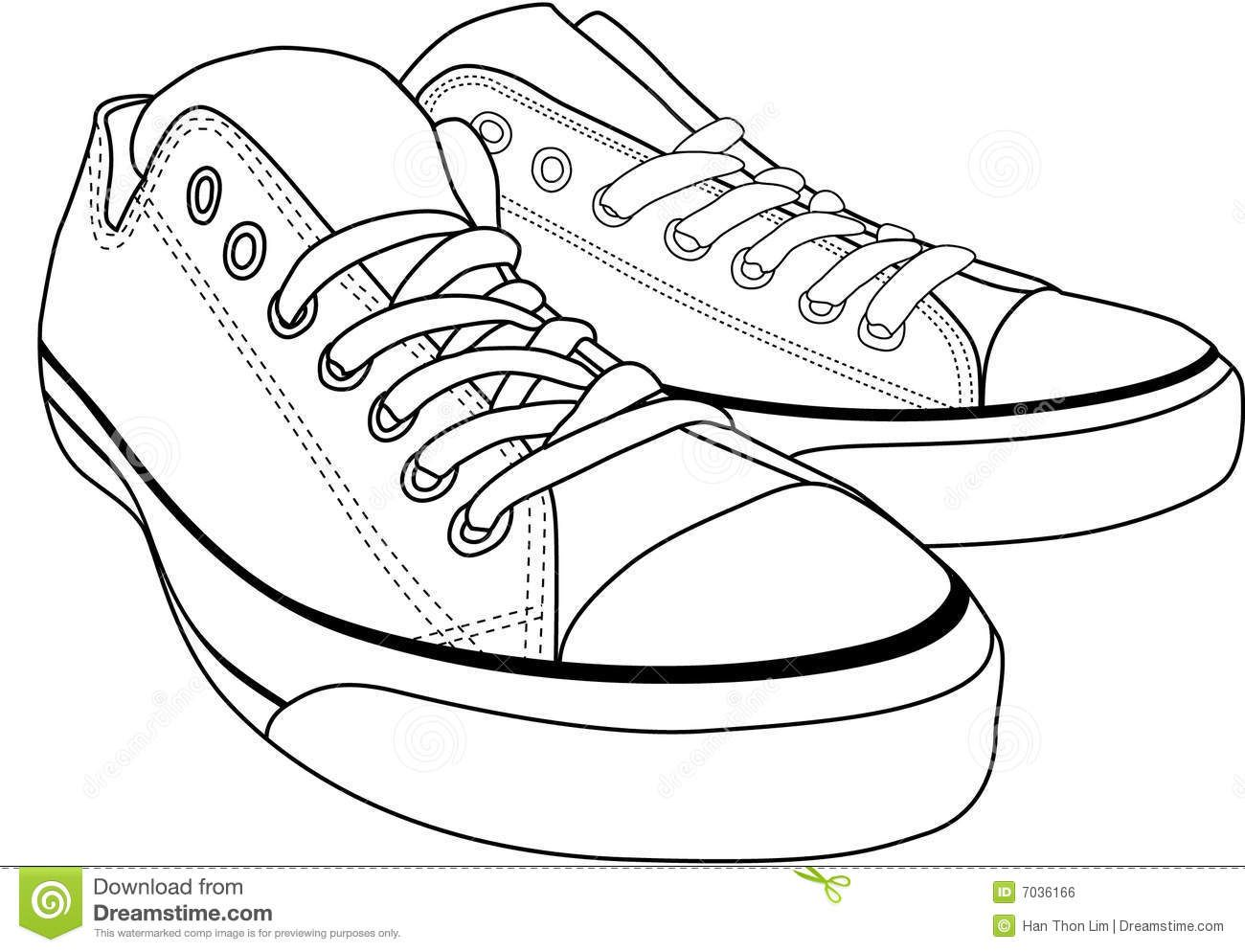 Feet with shoes clipart black and white clipart transparent stock Gym-shoes clipart black and white #5 | Art Class- Line | Shoes ... clipart transparent stock