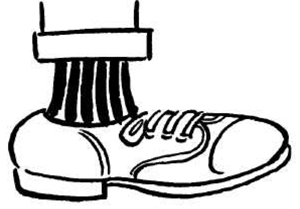 Feet with shoes clipart black and white clipart stock Cartoon Foot Drawing at PaintingValley.com | Explore collection of ... clipart stock