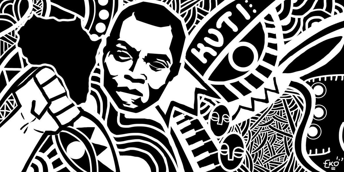 Fela clipart black and white png download Eko of Lagos. on Twitter: \