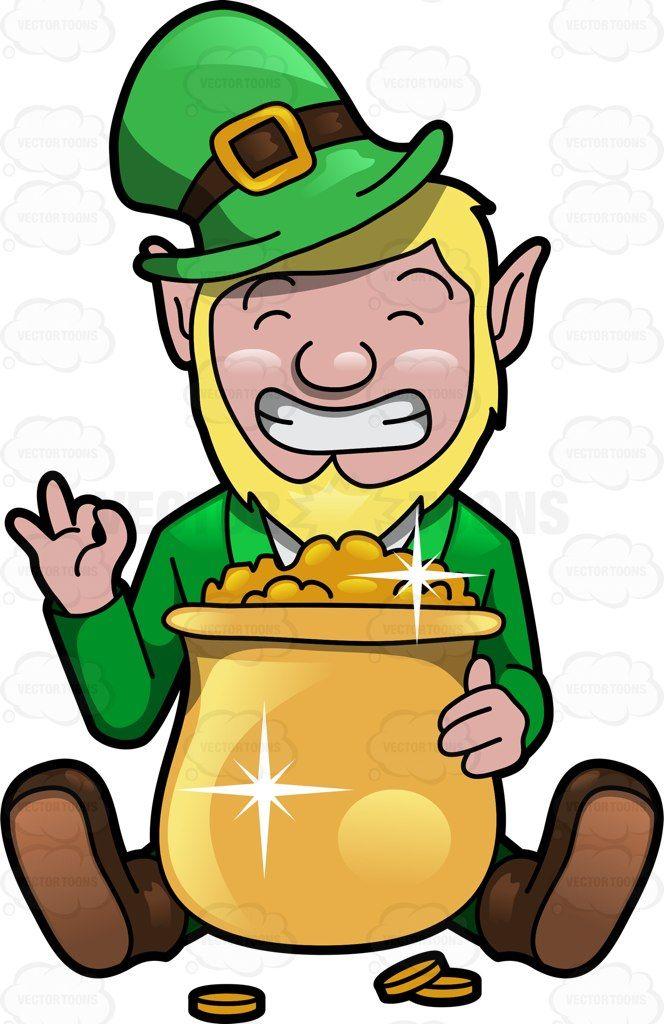 Felicitous clipart clip art royalty free library A Giddy Leprechaun With A Pot Of Gold | School | Leprechaun clipart ... clip art royalty free library