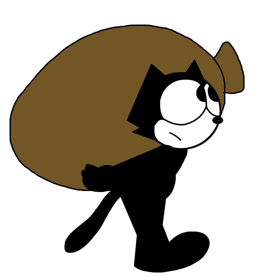 Felix the cat clipart jpg transparent library Felix carrying a sack full of things by MarcosPower1996 on DeviantArt jpg transparent library