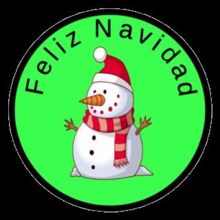 Feliz 2019 clipart picture black and white library Snowman Feliz Navidad Sticker Clipart Transparent Png - AZPng picture black and white library