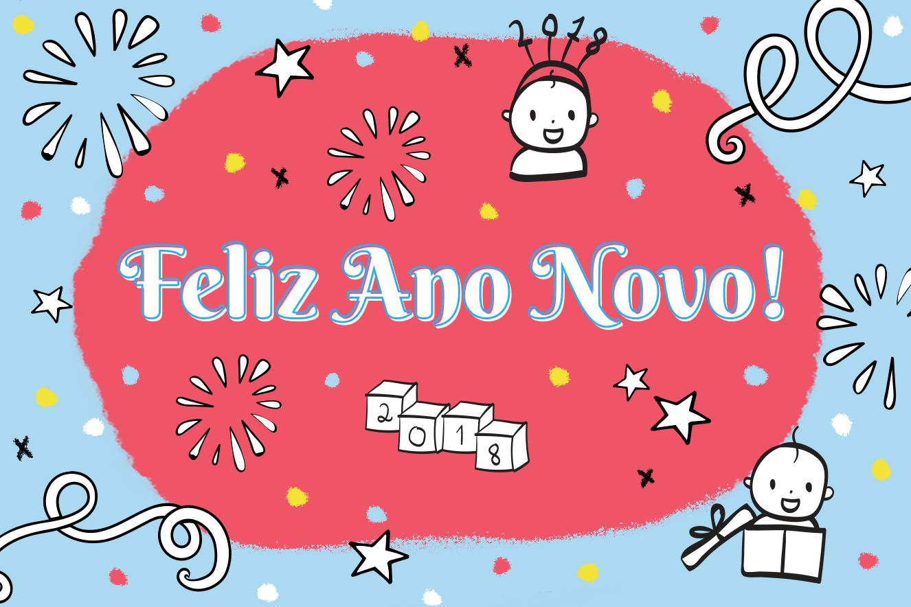 Feliz a o 2018 clipart image transparent stock 10 mensagens de Ano Novo para desejar um feliz 2018 nas redes | Bebe ... image transparent stock