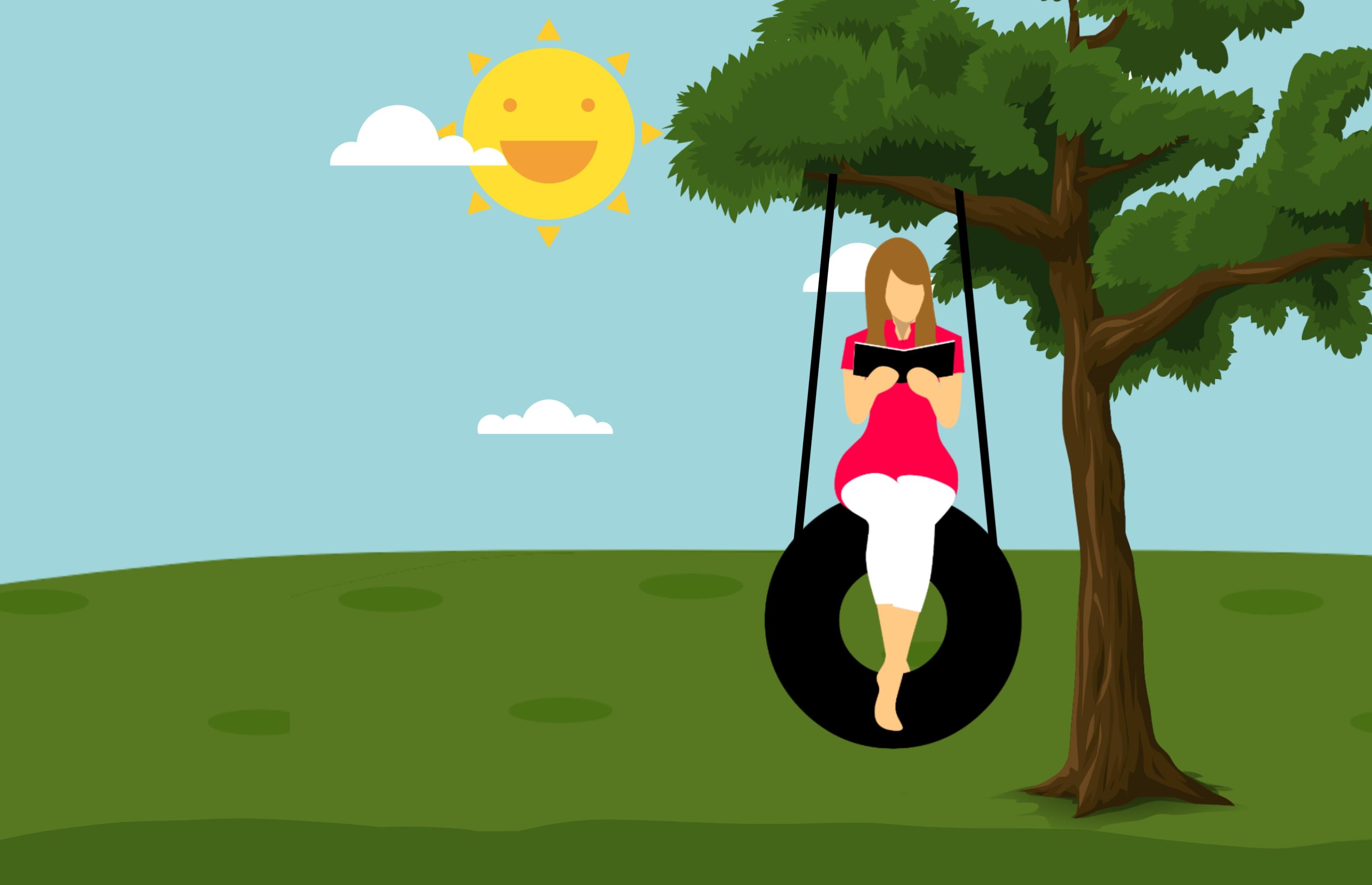 Feliz dia del padre de diseno grafico clipart image royalty free download Fotos gratis : leyendo, mujer, oscilación, libro, árbol, sol ... image royalty free download