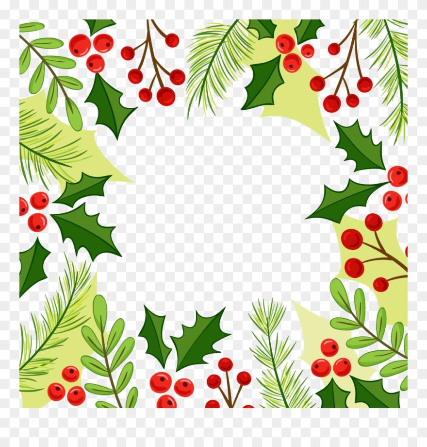 Feliz natal clipart png black and white download Christmas Holly Border Png Christmas Corner Border - Feliz Natal ... png black and white download