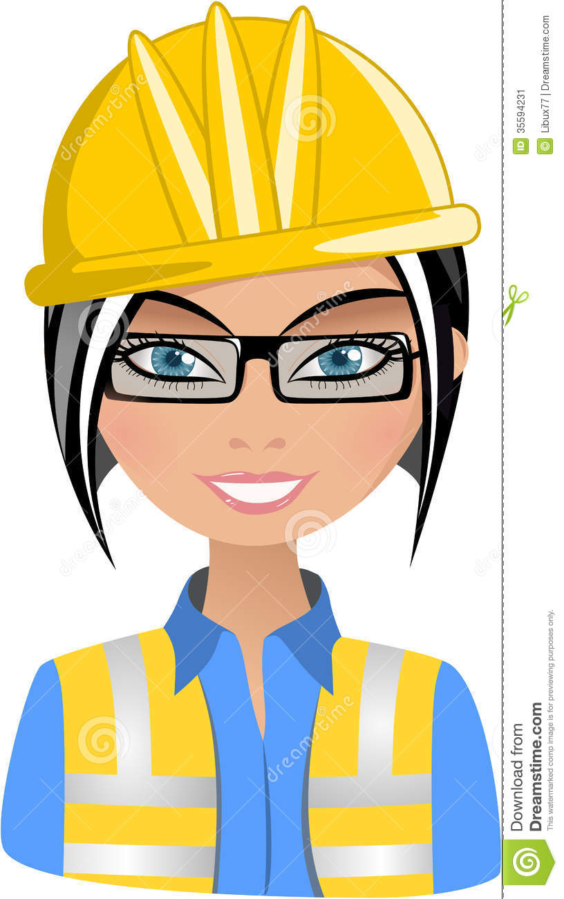 Woman in helmet clipart graphic download Female architect clipart 8 » Clipart Station graphic download