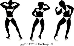Woman muscle clipart jpg transparent library Female Bodybuilder Clip Art - Royalty Free - GoGraph jpg transparent library