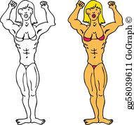 Female bodybuilder clipart clip royalty free library Female Bodybuilder Clip Art - Royalty Free - GoGraph clip royalty free library