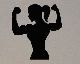Female bodybuilder clipart vector library library Muscular girl clipart - Clip Art Library vector library library