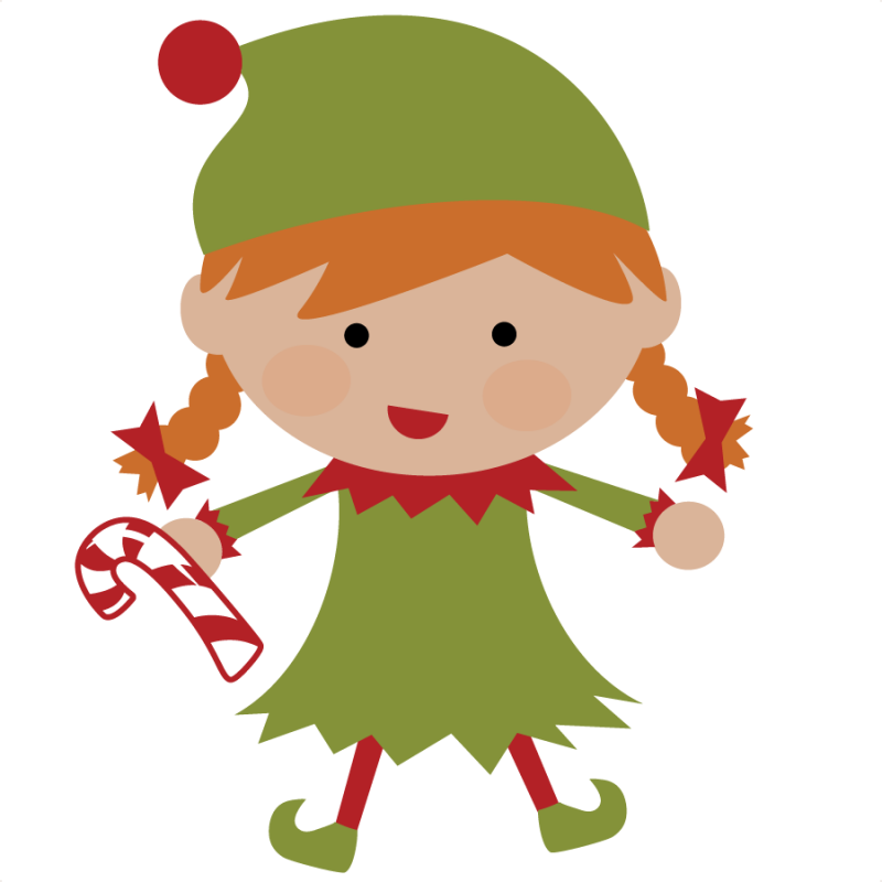 Girl christmas elf clipart svg black and white stock christmas elves | Elf SVG file for scrapbooking cute christmas elf ... svg black and white stock