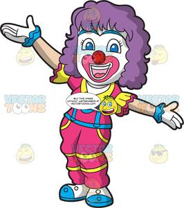 Female clown clipart vector royalty free download A Female Circus Clown vector royalty free download