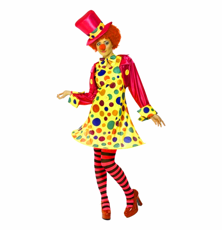 Female clown clipart svg library library Female Clown - Ladies Clown Fancy Dress Free PNG Images & Clipart ... svg library library