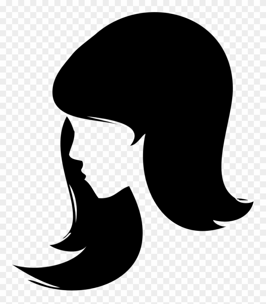 Female face silhouette clipart black and white library Woman Silhouette Drawing Female Computer Icons - Women Face ... black and white library