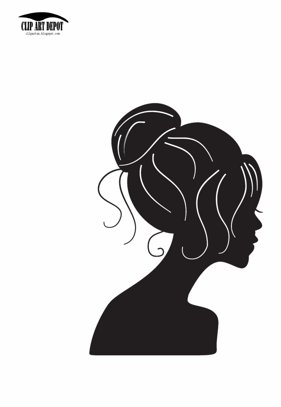 Female face silhouette clipart image black and white library Woman Face Silhouette Clip Art - Girl Silhouette Vector Png Free PNG ... image black and white library