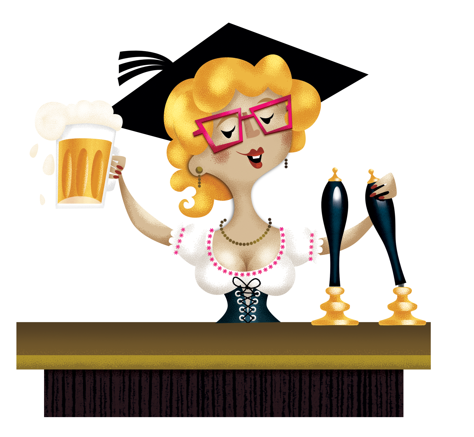 Female football clipart library Beer clipart bartender ~ Frames ~ Illustrations ~ HD images ~ Photo ... library