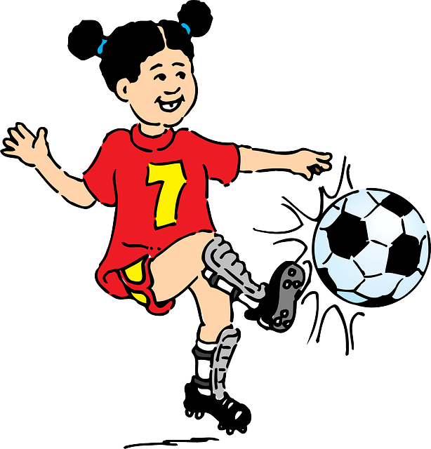 Female football clipart banner transparent library Free photo Shinpads Girl Red Female Footballer Seven Kick - Max Pixel banner transparent library