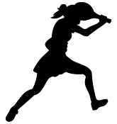 Different kinds of sports. Female football player clipart