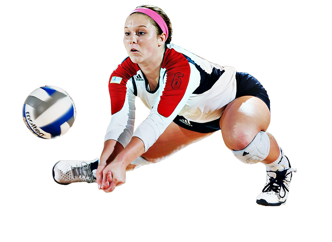 Female football player clipart. Volleyball png images free