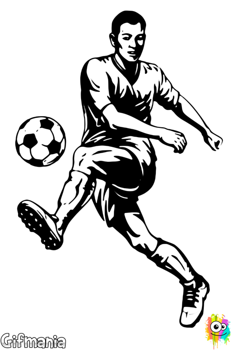 Soccer footballplayer drawing arts. Female football player clipart