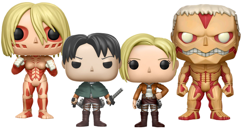 Female rock star figurines clipart vector library stock Attack on Titan - Survey Corps Funko Pop! Vinyl Bundle of 4 | Popcultcha vector library stock