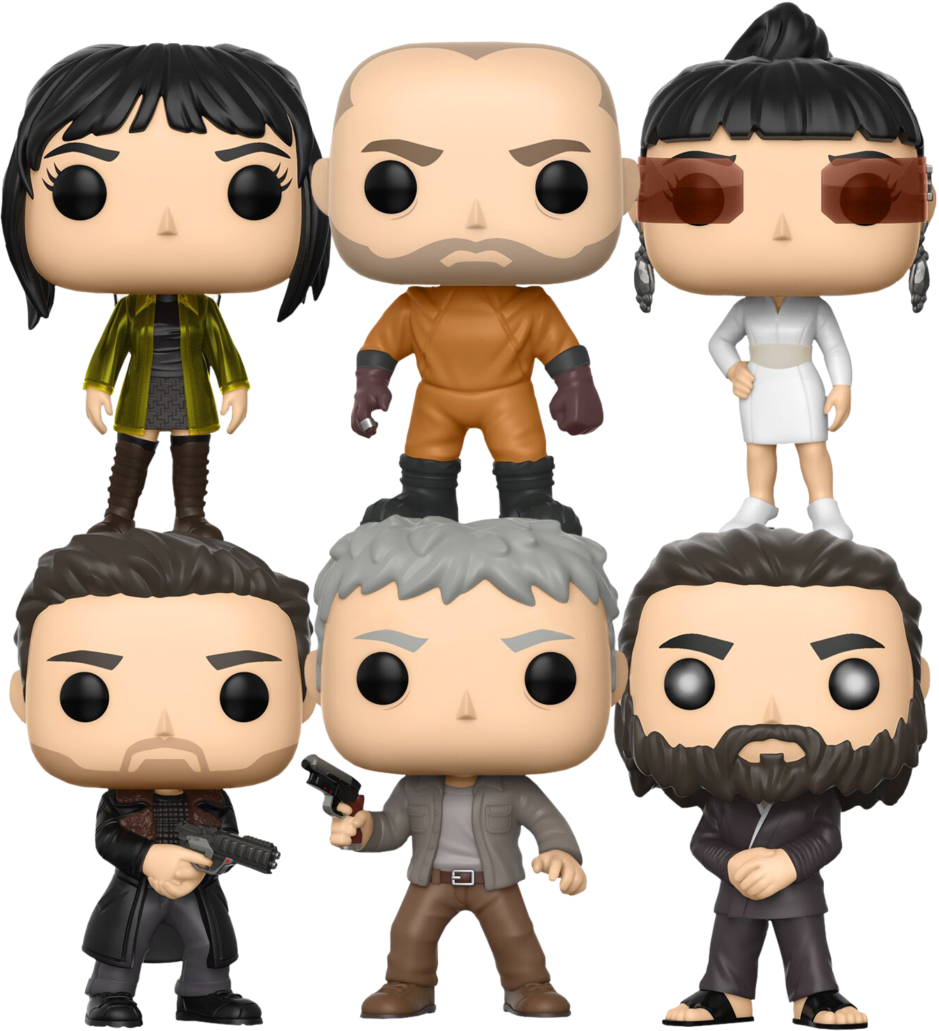 Female rock star figurines clipart png royalty free stock Blade Runner: 2049 | Deckard Returns Funko Pop! Vinyl Bundle (Set of ... png royalty free stock