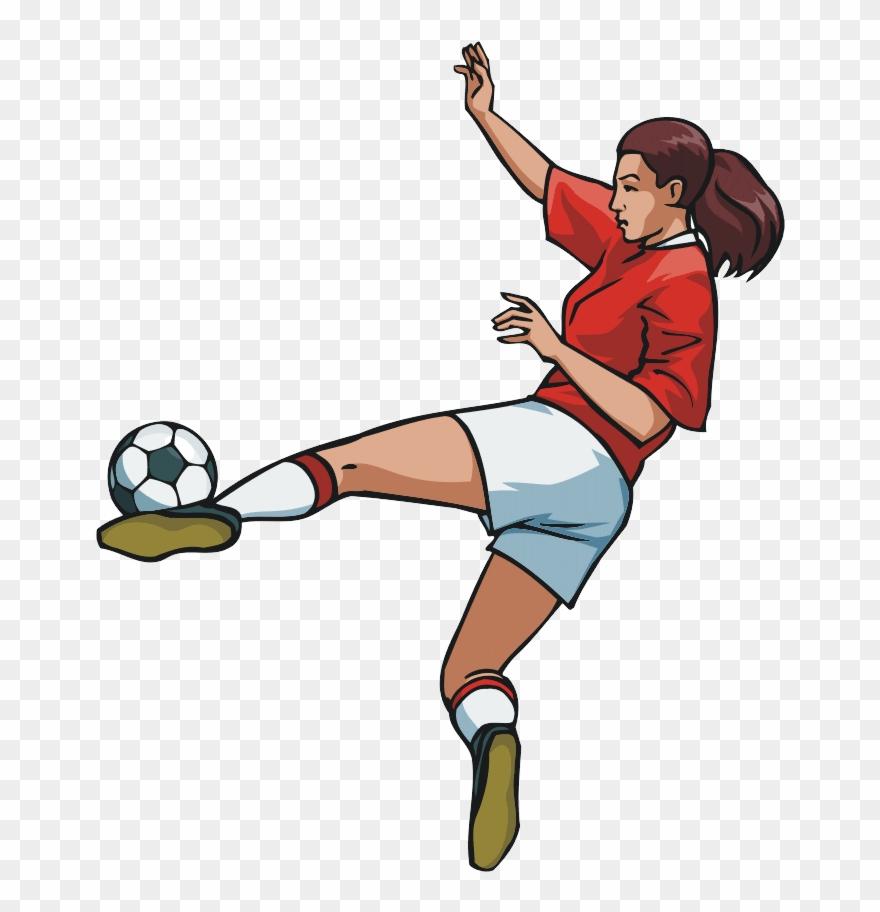 Female soccer clipart jpg stock Thumb Image - Female Soccer Player Clipart - Png Download (#1113669 ... jpg stock