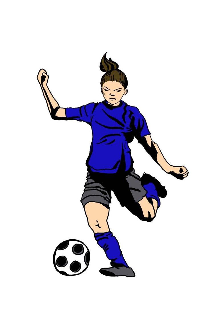 Female soccer clipart png transparent download Female Soccer Players Pictures - Free Clipart png transparent download