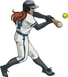 Female softball clipart banner free stock Female Softball Cliparts - Cliparts Zone banner free stock