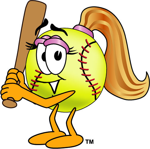 Female softball clipart picture free library Clipart Illustration of Female Softball with Bat | Cartoon s… | Flickr picture free library