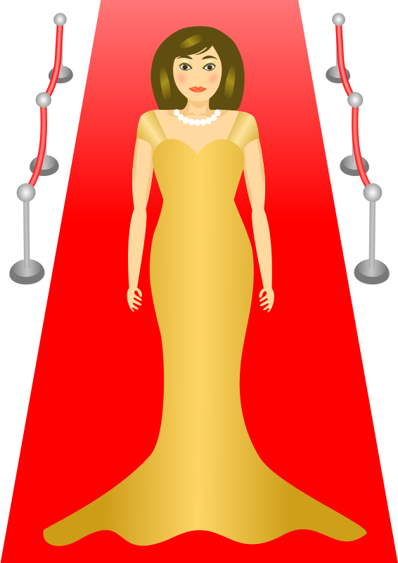 Female star clipart image freeuse stock Clipart - Red Carpet Glamour image freeuse stock