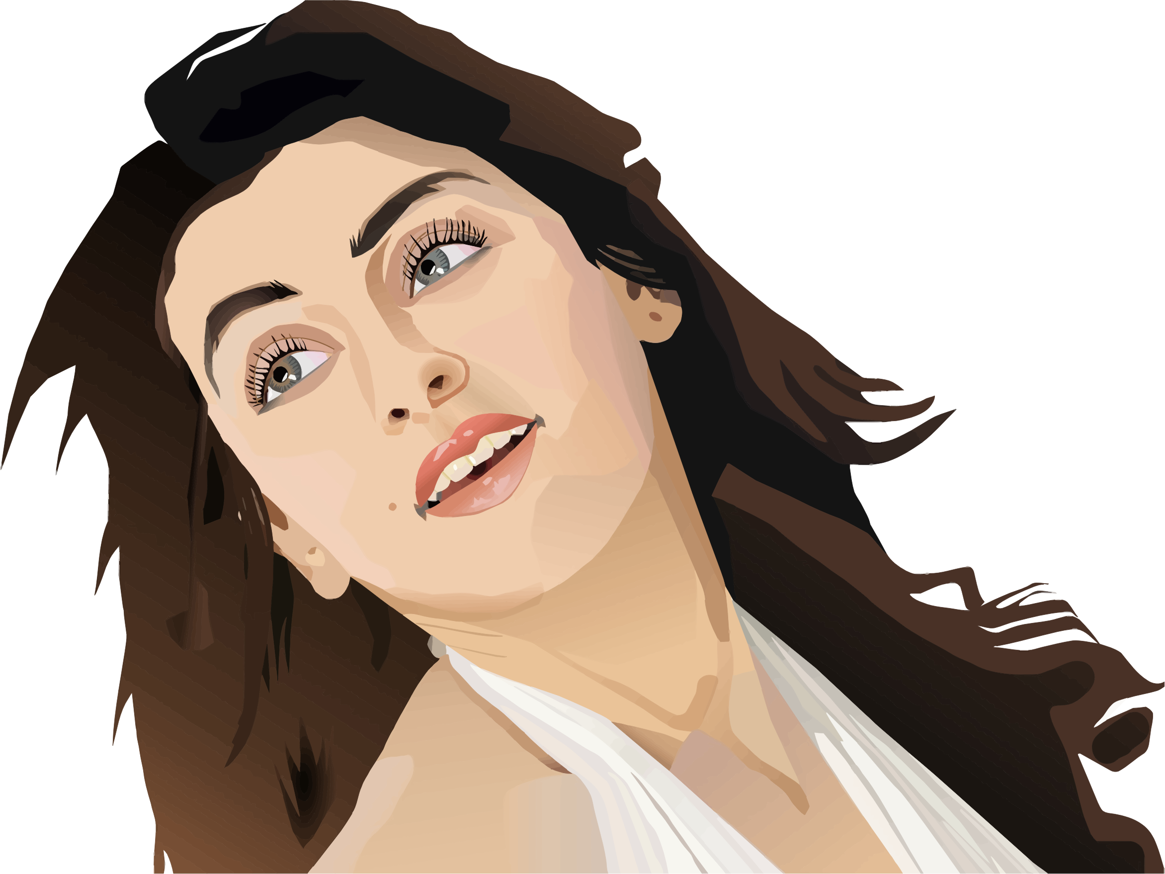 Female star clipart picture transparent download Clipart - Celebrity Portrait picture transparent download