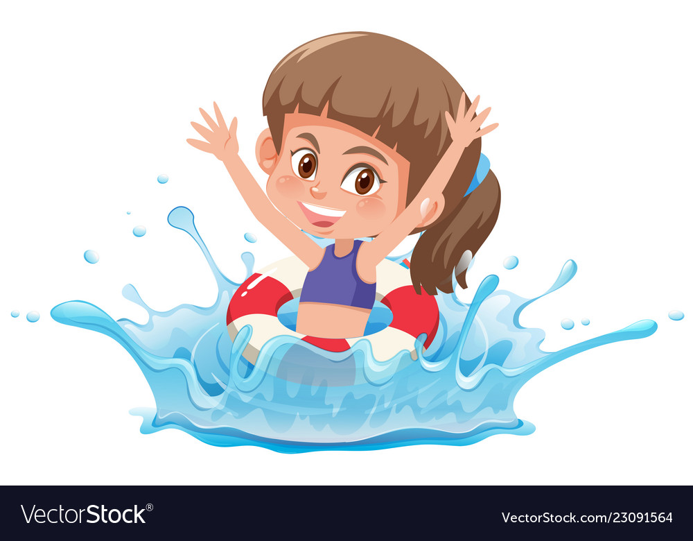 Female swimmer clipart clipart royalty free download Girl swimming in the pool clipart royalty free download