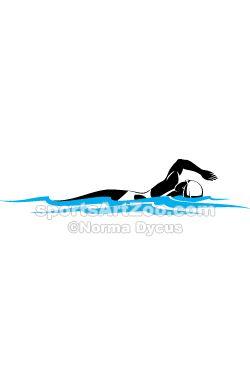 Female swimmer clipart image black and white Freestyle Female Swimmer | Swimming and Diving | Female swimmers ... image black and white