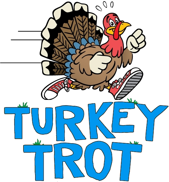 Female turkey running with jewelry clipart graphic library download Turkey Trot - Friends of Colin graphic library download