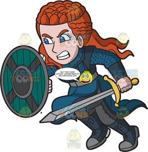 Female viking clipart clip art free download An Attacking Female Viking clip art free download