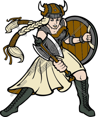 Female viking clipart svg stock Viking01V4clr Clipart and Vectorart: Sports Mascots - Vikings Macots ... svg stock