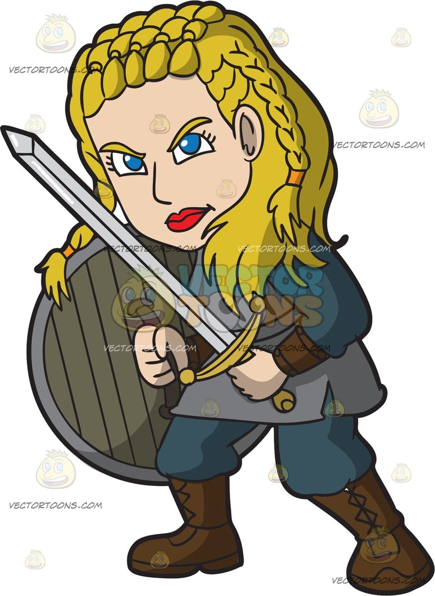 Female viking clipart clipart download A Female Viking Ready To Attack Someone: A woman with braided blonde ... clipart download