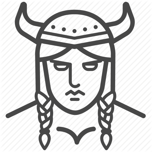Female viking clipart svg library stock \'Viking\' by Siwat V svg library stock