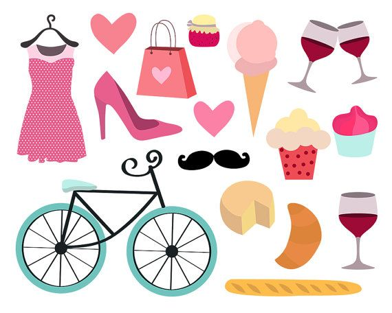 Feminine clipart clip art transparent stock paris clipart feminine clipart girly clipart bike by ClipArtKiwi ... clip art transparent stock