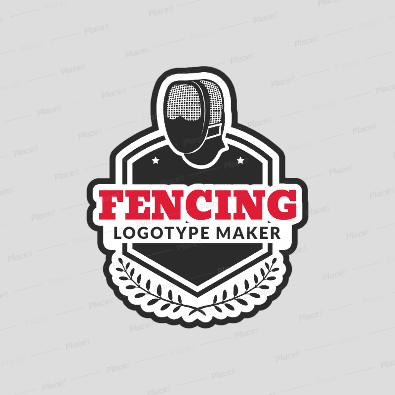 Fencing mask clipart graphic freeuse stock Fencing Logo Maker with a Fencing Mask Clipart 1612 graphic freeuse stock