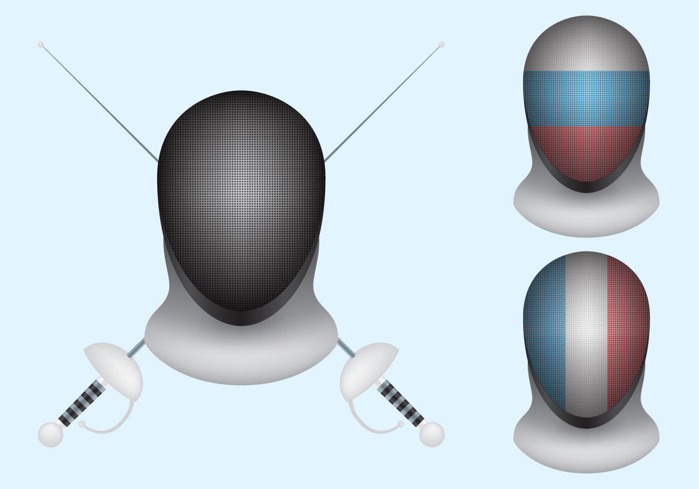 Fencing mask clipart picture freeuse stock Fencing Mask Free Vector Art - (31 Free Downloads) picture freeuse stock