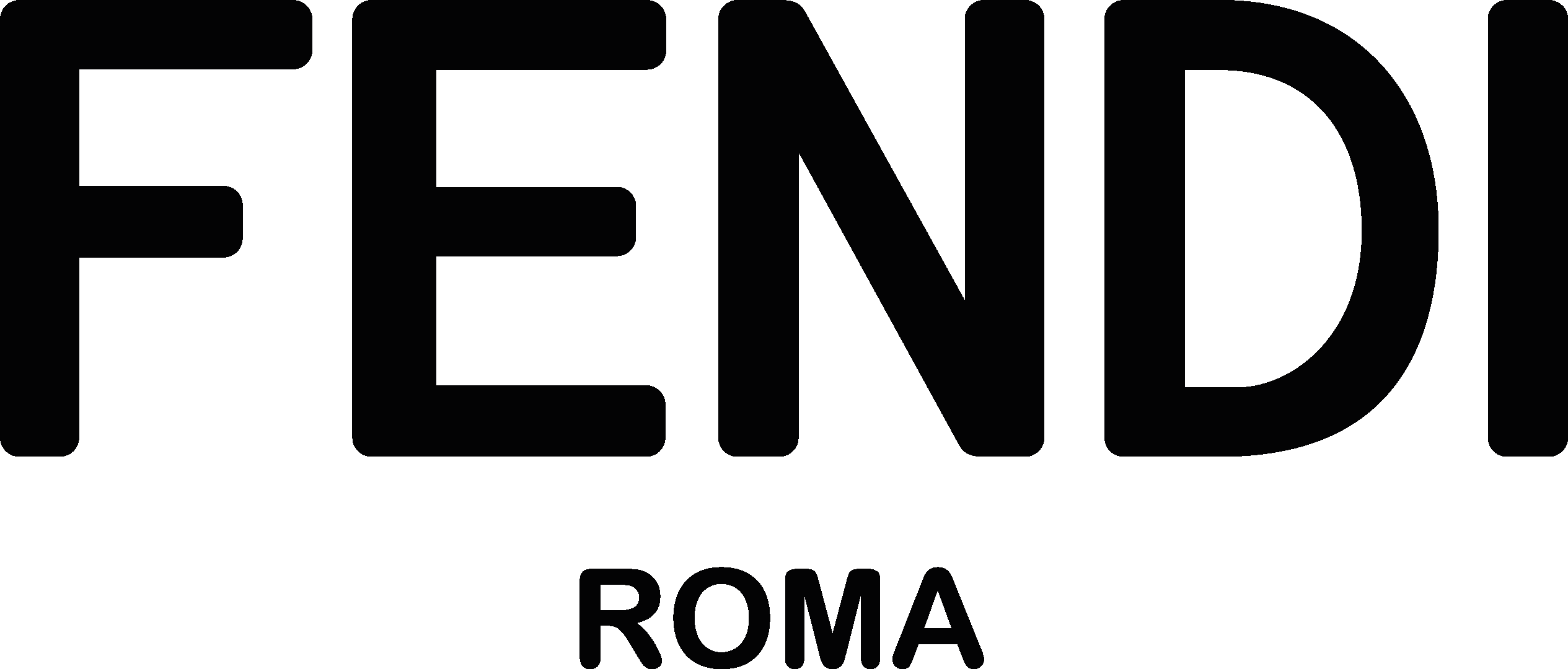 Fendi logo clipart banner library download Fendi Logo Vector Icon Template Clipart Free Download banner library download