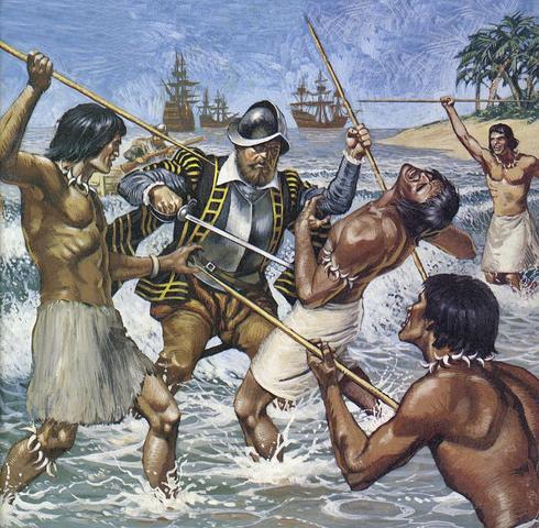Ferdinand magellans death clipart graphic royalty free Ferdinand Magellan & The Circumnavigation of the Globe timeline ... graphic royalty free