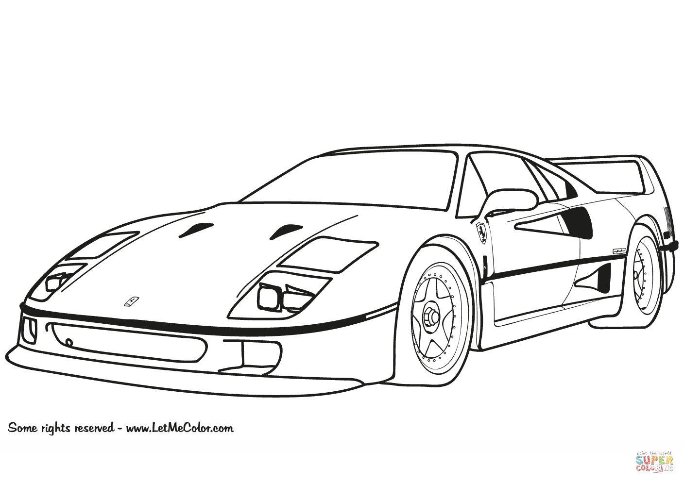 Ferrari f 40 clipart png library Ferrari F40 coloring page | Free Printable Coloring Pages png library