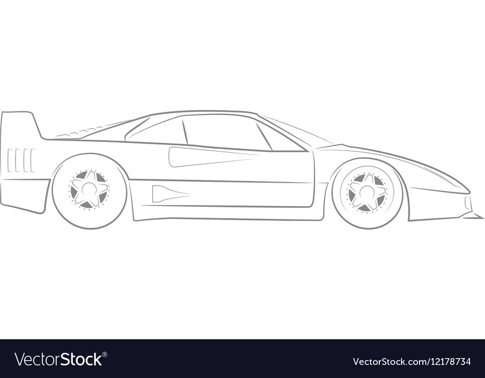 Ferrari f 40 clipart image royalty free download Ferrari F40 vector image image royalty free download
