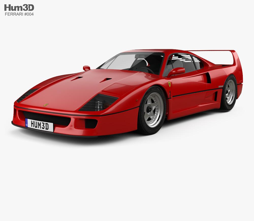 Ferrari f 40 clipart transparent library Ferrari F40 1987 3D model transparent library