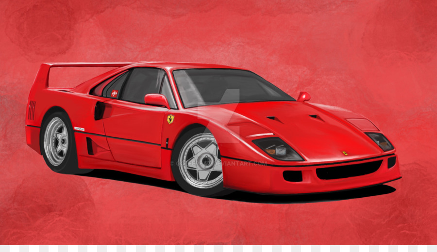 Ferrari f 40 clipart image freeuse download Ferrari F40 Ferrari F40 png download - 1600*900 - Free Transparent ... image freeuse download