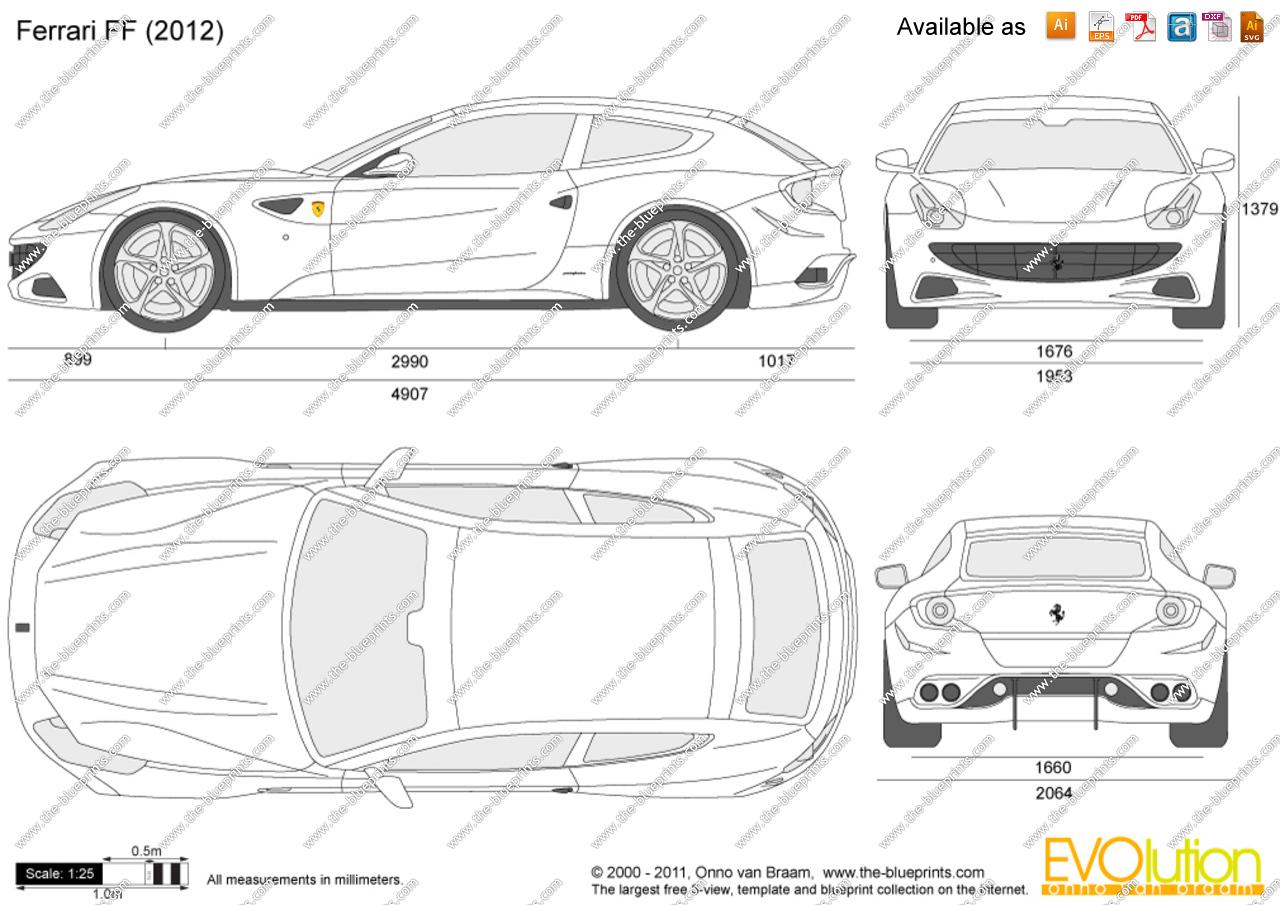 Ferrari ff clipart banner black and white download Ferrari FF vector drawing banner black and white download