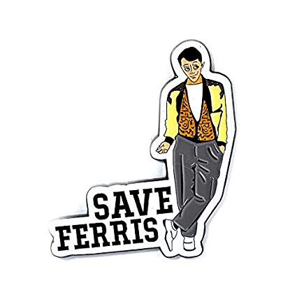 Ferris buellers day off clipart vector free download Amazon.com: Save Ferris Pin Classic 80s Ferris Bueller\'s Day Off Pin vector free download